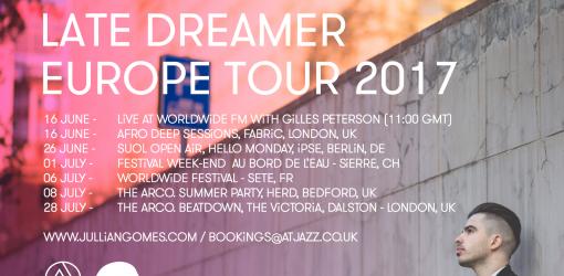 Jullian Gomes Europe Tour 2017 Dates